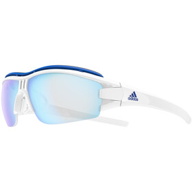 adidas Evil Eye Halfrim Pro Glasses L white shiny/vario blue